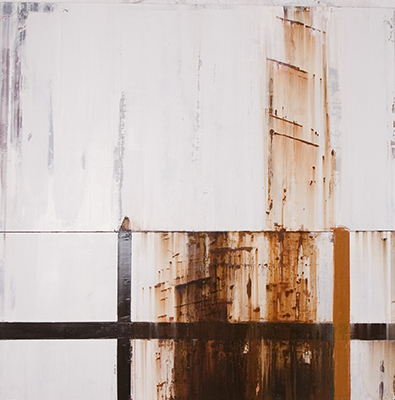 Tasting of salt and rust 152cm x 152cm oil on canvas